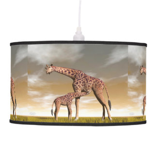 Mum and baby giraffe - 3D render Pendant Lamp