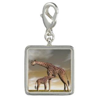 Mum and baby giraffe - 3D render Photo Charms