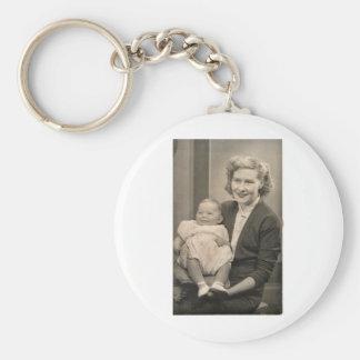 Mum and Baby Keyring Basic Round Button Keychain
