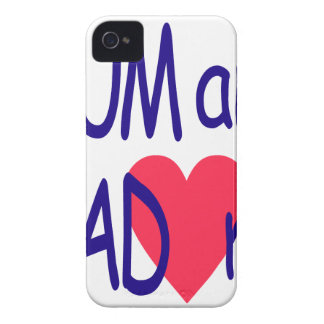 Mum and dad me, mom Case-Mate iPhone 4 case
