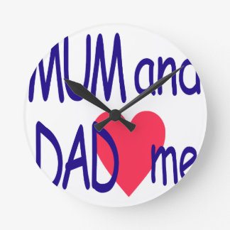 Mum and dad me, mom clock