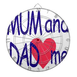 Mum and dad me, mom dartboard