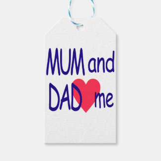 Mum and dad me, mom gift tags