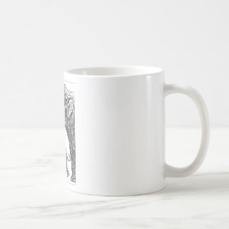 mum elephant and baby coffee mug