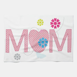 Mum Hearts And Flowers Kitchen Towel