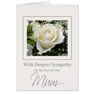 Mum loss Rose sympathy Card
