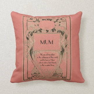MUM my best friend Throw Pillow