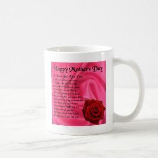 Mum poem - Mothers Day - Pink silk & Rose Coffee Mug