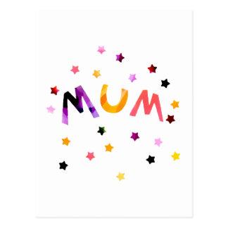 Mum Stars Postcard