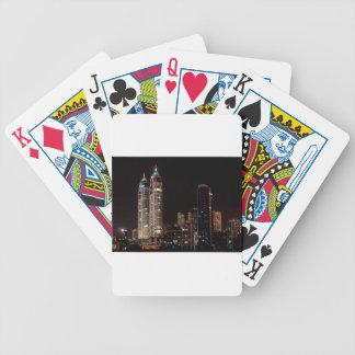 Mumbai India Skyline Bicycle Playing Cards