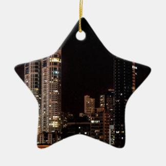 Mumbai India Skyline Ceramic Ornament