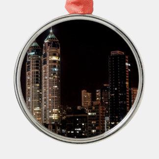 Mumbai India Skyline Metal Ornament