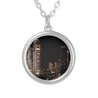 Mumbai India Skyline Silver Plated Necklace