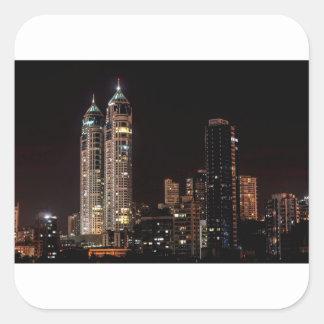 Mumbai India Skyline Square Sticker