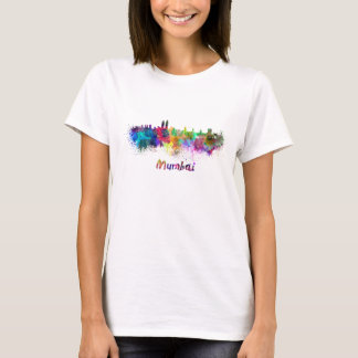 Mumbai skyline in watercolor T-Shirt