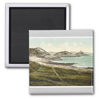 Mumbles Head Lighthouse, Mumbles, Wales rare Photo Magnet
