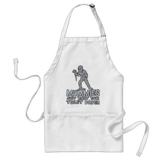 mummies just want your toilet paper funny tshirt adult apron