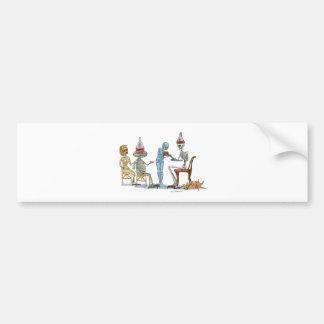 Mummific Skeleton Dinner Bumper Sticker