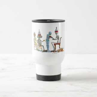Mummific Skeleton Dinner Travel Mug