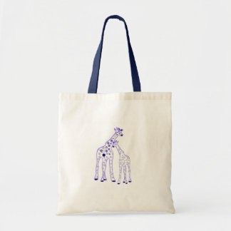 mummy and baby giraffe tote bag