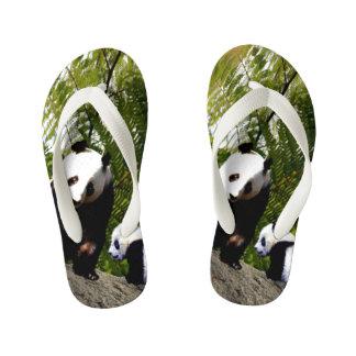 Mummy And Baby Panda, Kid's Flip Flops
