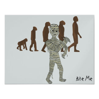 "Mummy and Evolution Guys, Customize Me! 4.25"" X 5.5"" Invitation Card"
