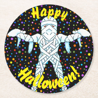 Mummy Halloween Coasters