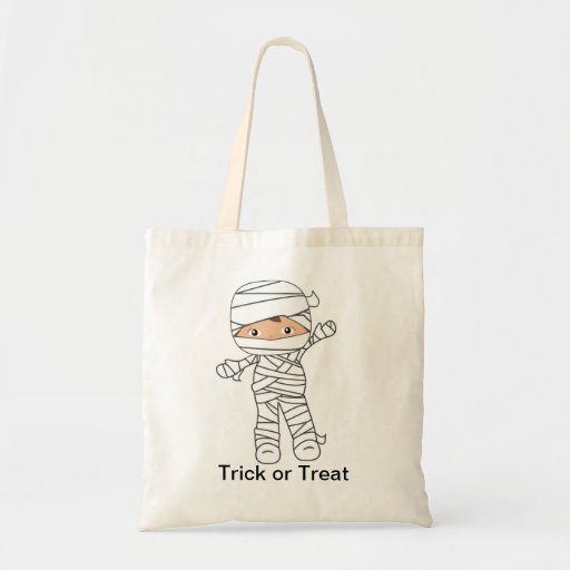 Mummy  Halloween Trick or Treat Bag Recylable Tote