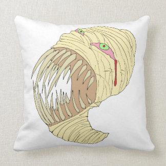 Mummy Maggot Art Throw Pillow
