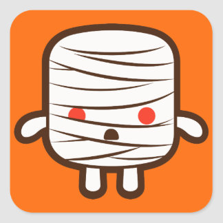 Mummy marshmallow sticker