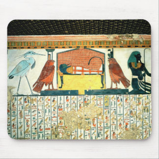Mummy on a funeral bed with various divinities mouse pad