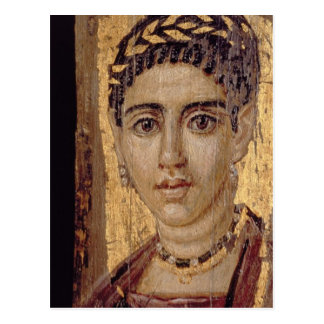 Mummy Portrait of a Woman, from Fayum, Romano-Egyp Postcard