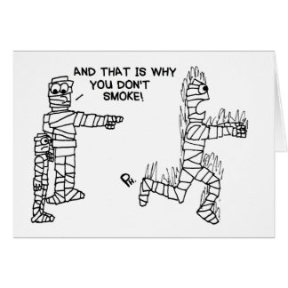 Mummy Smoking Advice Card