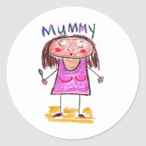 Mummy Round Sticker