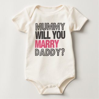 MUMMY WILL YOU MARRY DADDY? ROMPERS