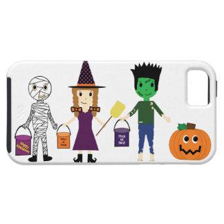 Mummy, Witch, Frankenstein Halloween -background iPhone 5 Case