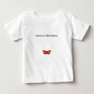 Mummy's Little Sidekick superhero mask unisex Baby T-Shirt