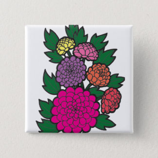 Mums 2 Inch Square Button
