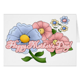Mums Flowers Note Card