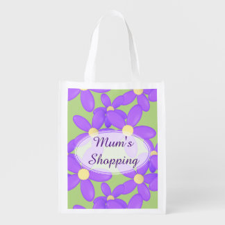 Mum's Purple Flower shopping bag