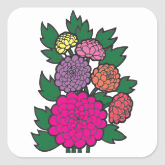 Mums Square Sticker