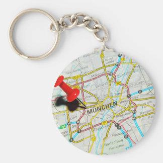 Munchen (Munich), Germany Basic Round Button Keychain