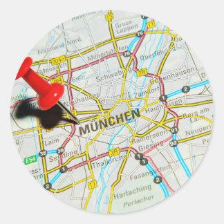 Munchen (Munich), Germany Classic Round Sticker