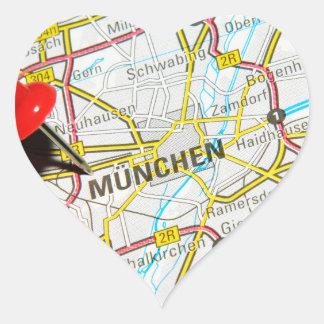 Munchen (Munich), Germany Heart Sticker