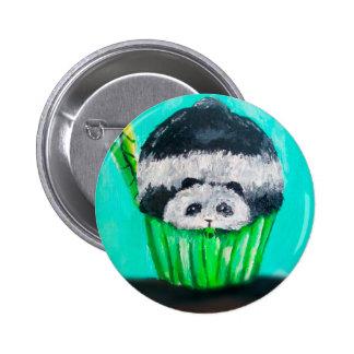 Munchies Panda Cupcake 2 Inch Round Button