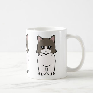 Munchkin Cat Cartoon Coffee Mug