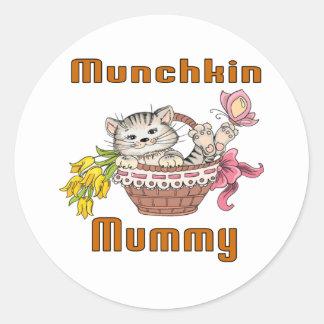 Munchkin Cat Mom Classic Round Sticker