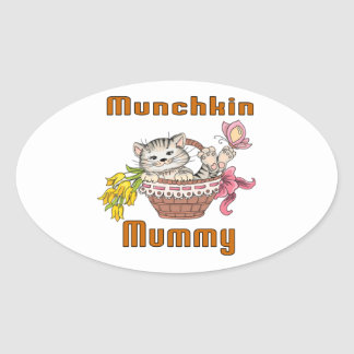 Munchkin Cat Mom Oval Sticker