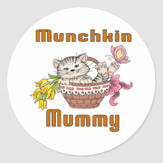 Munchkin Cat Mom Round Sticker