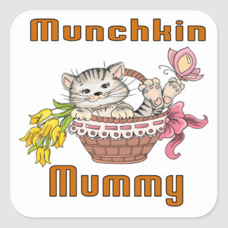 Munchkin Cat Mom Square Sticker